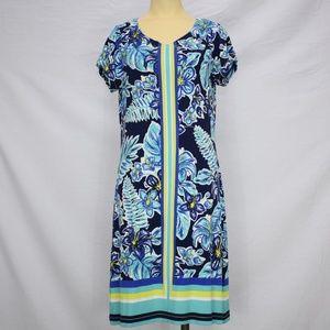 Hatley | Floral Blue Striped Short Sleeve Dress M